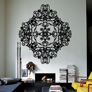 Wall Decor Vinyl Sticker Room Decal Ornament Mandala Tracery Lace Modern Art Deco Gothic Bedroom Abstract (s221)