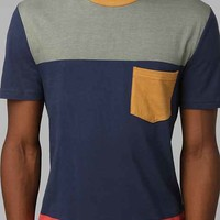 Character Hero Coloblock Tee- Blue M