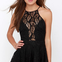 Shadow Dancer Black Lace Romper