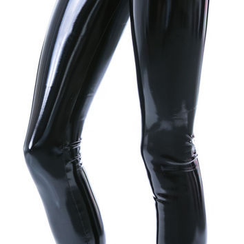 Lip Service Vixen High Waisted PVC Leggings Black