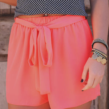 Beach Bum Shorts - Neon Coral