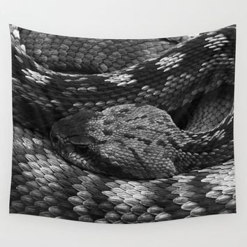 Diamondback Rattlesnake Wall Tapestry by darlingbeliever