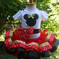 Mickey Mouse tutu, gold Mickey Mouse tutu, tutu, first birthday tutu