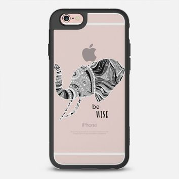 BE WISE - CRYSTAL CLEAR PHONE CASE iPhone 6s case by Nika Martinez | Casetify