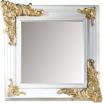 GM Luxury Bazille Square Decorative Wall Art Mirror for Elegant Design, Leaf 39.4x39.4