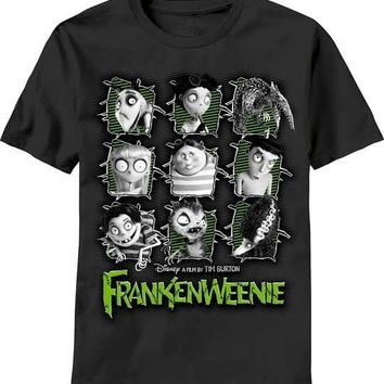 Frankenweenie Stitchy Team Tim Burton New Licensed Adult T-Shirt S M L XL XXL