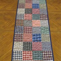 Homespun Plaids Quilted Table Runner