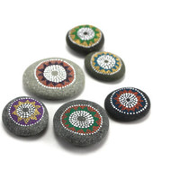 Small Universe Collection / Gift set of 6 painted stones by Amy Komar