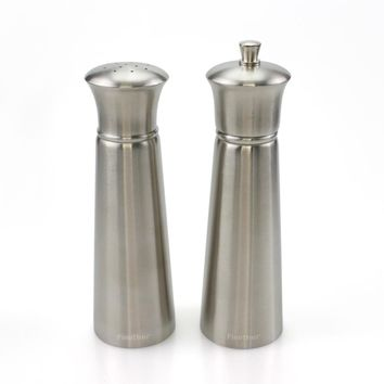 "2pc 7'' & 6.5"" 304 Stainless Steel Salt Shaker and Pepper Mill Set - Free Shipping"