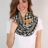 University Of Tennessee Gingham Infinity Scarf