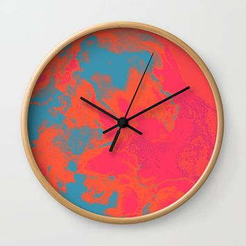Pixelated Wall Clock by duckyb
