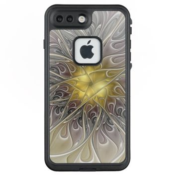 Flourish With Gold Modern Abstract Fractal Flower LifeProof® FRĒ® iPhone 7 Plus Case