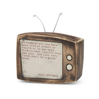 WALT WHITMAN CERAMIC TV SCULPTURE | Art, Vicki Hartman, Television, Media, Poetry | UncommonGoods