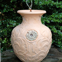 Terracotta Down Under Pots - BROCADE LEAF TERRACOTTA DOWN UNDER POT