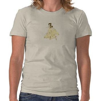 Beauty & the Beast's Belle is dancing Disney Shirt from Zazzle.com