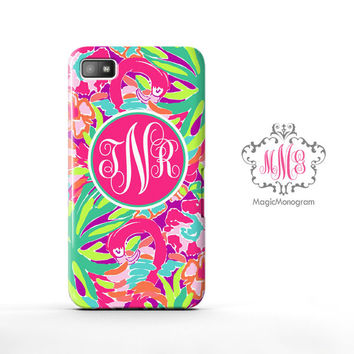 Resort Lulu Worth Celebrating Lilly Pulitzer Monogram Blackberry Case Z10, BB Q10 Case