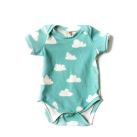 Organic Bodysuit Tiffany Clouds