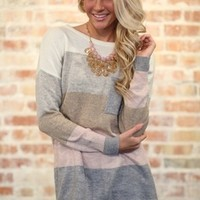 All The Right Flavors Sweater Taupe