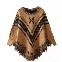 Yesiyan Stylish Comfortable Winter Warm Soft Geometric Pullover Sweater