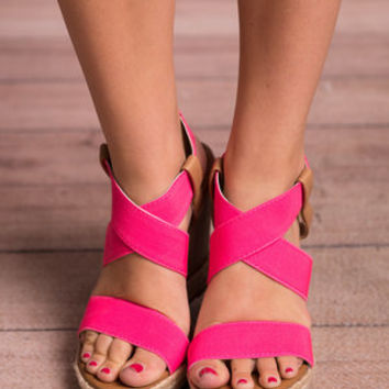 Boldly Go Wedges, Hot Pink