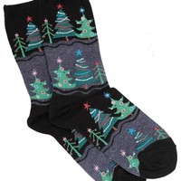 Hot Sox Funky Christmas Tree Women's Cotton Holiday Sock