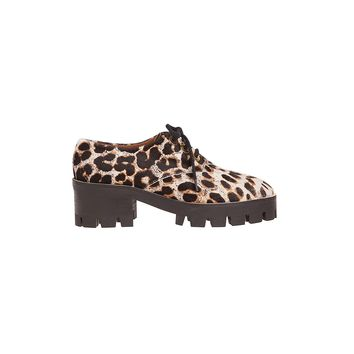 Sandro Alec Leopard Platform Lace Up Shoes at Sandro US