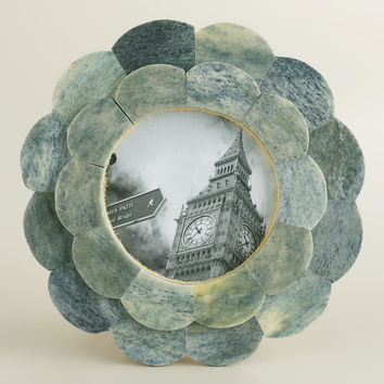 Gray Round Venya Scalloped Frame - World Market