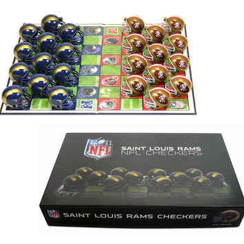 Los Angeles Rams Checker Set