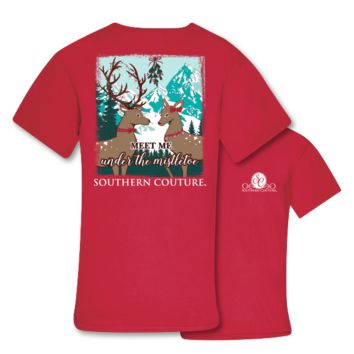 Southern Couture Under the Mistletoe Holiday Comfort Colors T-Shirt