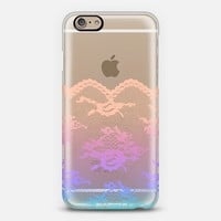 Colorful Dreams Romantic Lace Transparent iPhone 6 case by Organic Saturation | Casetify
