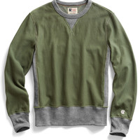 Reverse Weave Sweatshirt in Washed Olive