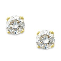 Macy's Round-Cut Diamond Stud Earrings in 10k Yellow or White Gold (1/6 ct. t.w.) Jewelry & Watches - Earrings - Macy's