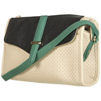 Green Perforated Crossbody Bag