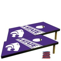 Kansas State University Corn Hole Bag Toss Game (Design 5)