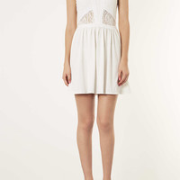 Lace Panel Skater Dress - Going Out Dresses - Dresses - Clothing - Topshop USA