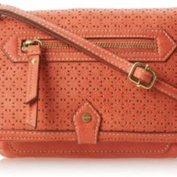 Nine West Vintage America Fiona Flap Cross Body Bag,Coral,One Size