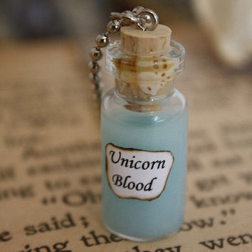 Harry Potter Potion - Unicorn Blood Vial Necklace