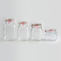 Round Glass Jars with Clamp Lids - World Market