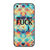 What The FUCK On Triangle Cloud Phone Case For iPhone5 from The Geek Heaven