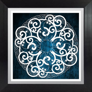 Mandala Papercut, Mandala Art, Spiritual Art, Bohemian Decor, Geometric Art, Paper Cut Out, Illustration, Housewarming Gift, New Home Gift