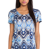 Ella Moss Totem Tee in Blue