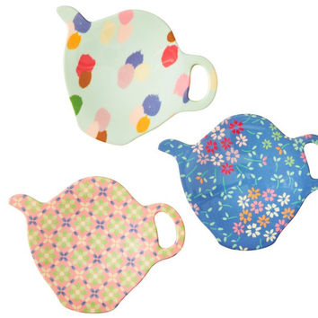 Rice DK | Melamine Tea Bag Plate with Stay Outstanding Print