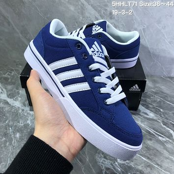 HCXX A726 Adidas NEO campus opens mouth to laugh canvas board shoe Blue