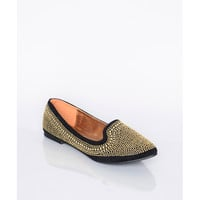 Gold Beaded Loafers - Shoes