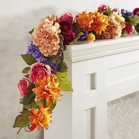 Faux Luxe Floral Bold Spring 6' Garland