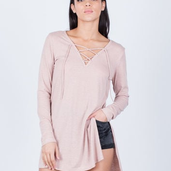 Ribbed Hi-Low Tunic