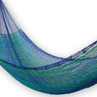 Classic Single Hammock, Blue/Green, Outdoor Hammocks