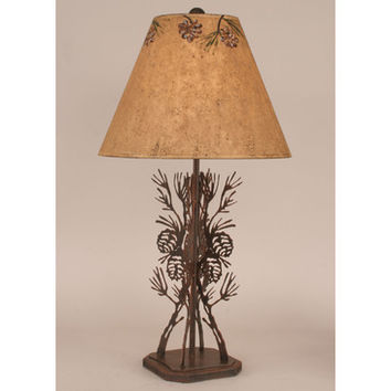 Coast Lamps Four Sided Pine Cone Branch Table Lamp