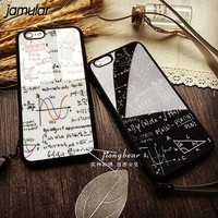 JAMULAR Funny Mathematical Silicone Mirror Soft Case For iphone X 7 Plus 5 5S SE Back Cover for iPhone 6 6s 8 Plus Fundas Coque