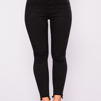 Zach Distress Jeans - Black
